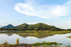 Парк Khao Loung около запруды Rom Klao Wang, Uthai Thani Таиланда Стоковое Фото