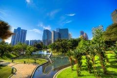 Парк KLCC в Куалае-Лумпур Стоковое Изображение
