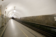 Парк Kultury станции метро (линия Koltsevaya) в Москве, России Стоковая Фотография RF
