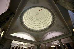 Парк Kultury станции метро (линия Koltsevaya) в Москве, России Стоковое Изображение RF