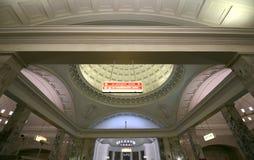 Парк Kultury станции метро (линия Koltsevaya) в Москве, России Стоковые Фото