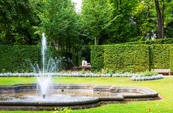 Парк Lichtenwalde Пол в Саксонии, Германии Стоковая Фотография