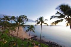 парк maui kihei kamaole пляжа ii Стоковое Изображение RF