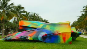 Парк Miami Beach Collins видеоматериал
