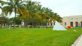 Парк Miami Beach Collins сток-видео