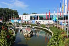 Парк Minimundus миниатюрный на Клагенфурте, Австрии Стоковые Фотографии RF