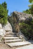 Парк Neapolis археологический в Сиракузе, Сицилии стоковые фотографии rf