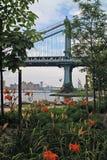 Парк New York Бруклинского моста стоковые фото