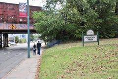 Парк Peabody и спортивная площадка, Мемфис, TN Стоковое Изображение
