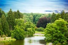 Парк Pruhonice в чехии Стоковое Изображение