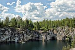 Парк Ruskeala горы стоковое фото