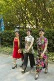 Парк ` s людей в Шанхае, Китае Стоковое Изображение RF
