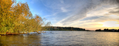 Парк Schloss Babelsberg захода солнца Стоковая Фотография RF