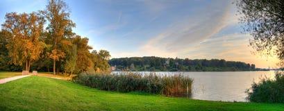 Парк Schloss Babelsberg захода солнца Стоковое Фото
