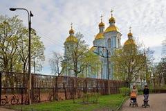 Парк St Nicholas и собор St Nicholas военноморской в St Peters стоковое изображение rf