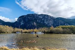 Парк Stawamus главный захолустный; монолит стоковое изображение