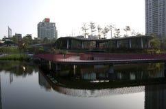 Парк Taichung Тайвань долины осени красный стоковая фотография