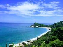 Парк Tayrona пляжа Стоковые Изображения RF