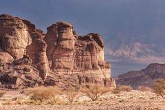 Парк Timna, Израиль, пустыня Arava Стоковая Фотография RF