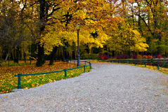 парк zagreb maksimir осени Стоковые Изображения