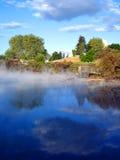 парк zealand геотермического kuirau деятельности новый стоковое фото rf