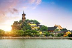 Парк Zhenjiang Jinshan стоковые изображения