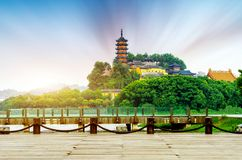 Парк Zhenjiang Jinshan стоковые фотографии rf