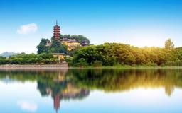 Парк Zhenjiang Jinshan стоковые изображения rf