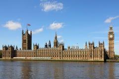 Парламент Великобритании и большое Бен Стоковое Изображение