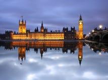 парламент Великобритания ben большой london Стоковые Изображения RF