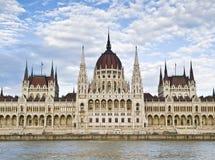 парламент венгра фасада Стоковое Фото
