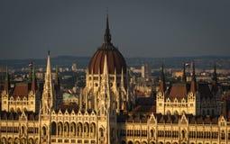 Парламент в Будапеште - конец вверх стоковые фотографии rf