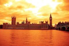 парламент домов ben большой Стоковая Фотография