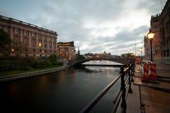 парламент моста к Стоковое Фото