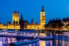 парламент ночи дома ben большой Стоковая Фотография RF