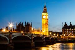 парламент ночи дома ben большой Стоковые Фото