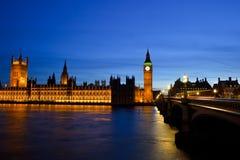 парламент ночи домов ben большой Стоковые Фотографии RF