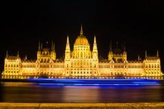 парламент ночи budapest Стоковая Фотография RF