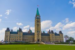 Парламент Оттавы Канады Стоковое Фото