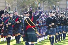 парламент офицера холма волынки играя полиций Стоковое фото RF