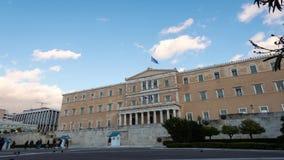 Парламент промежутка времени Греции акции видеоматериалы