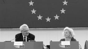 Парламент спора Анетта Gerlach и Rainer Wieland умеряя видеоматериал