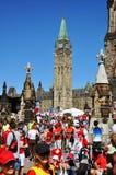 парламент 2011 ottawa холма дня Канады Стоковые Фото
