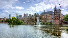 Парламент Binnenhof голландский, Гаага, Нидерланды Стоковая Фотография RF