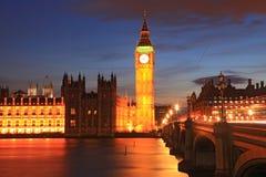 парламент london дома ben большой Стоковое Изображение