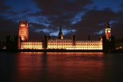 парламент london дома ben большой Стоковое Фото
