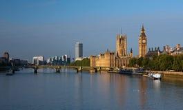 парламент london домов ben большой Стоковое Изображение