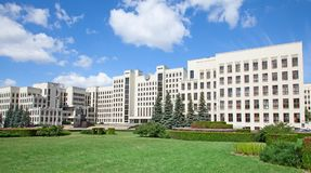 парламент minsk здания Беларусь Стоковые Фотографии RF