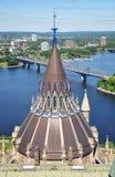 парламент ottawa архива Стоковые Фотографии RF