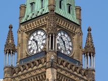 парламент ottawa зданий канадский Стоковые Фотографии RF